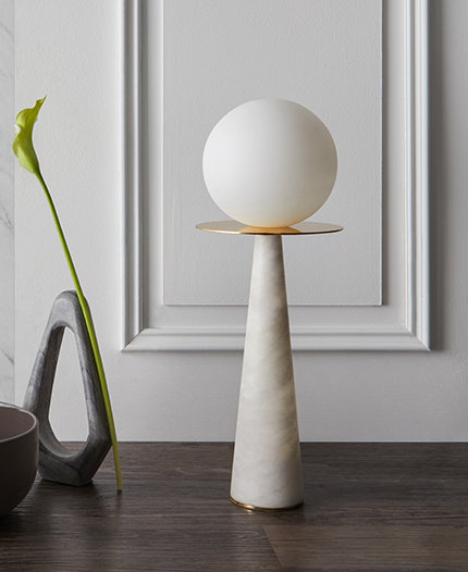 The Halo table lamp, by Heathfield & Co